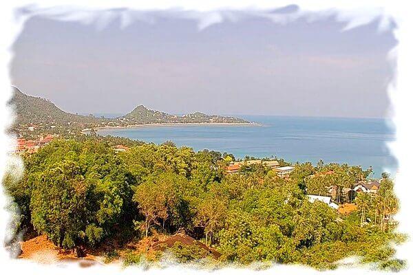 Koh Samui Lamai beach panoramic webcam