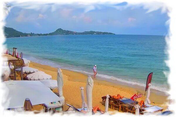 Live webcam Lamai beach – Panoramic view