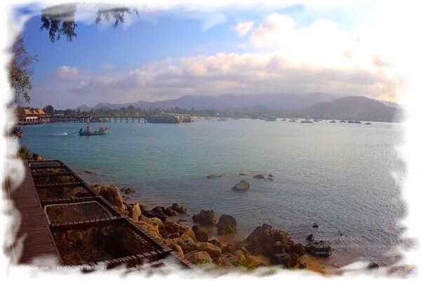 View of Bangrak Beach and Ferry Pier - Koh Samui Webcam