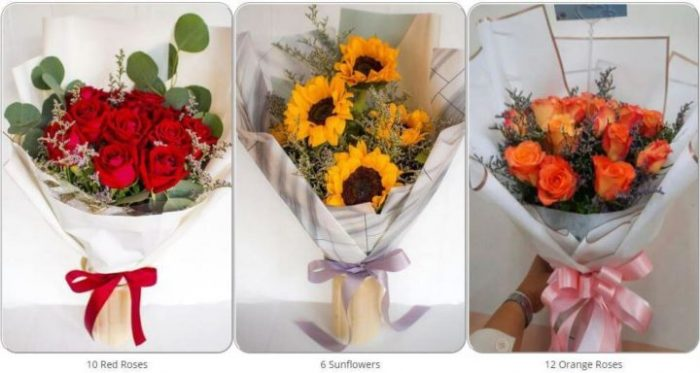 Gallery of bouquets on the flower delivery site Flowers-Bangkok (photo from the store's website)