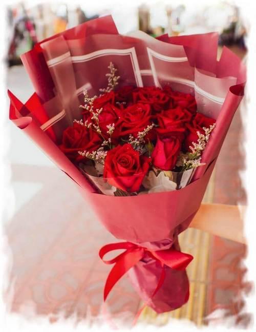 Lovely bouquet for my lovely girlfriend in Bangkok