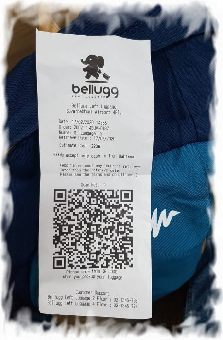 Receipt for Bellugg Left Luggage